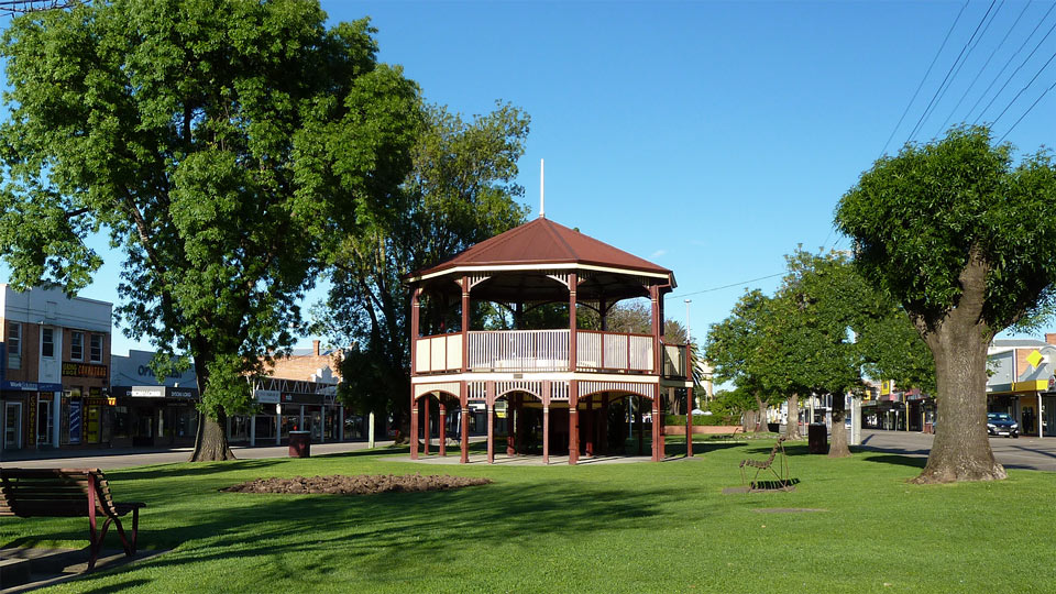 Band Rotunda in Main Street, Bairnsdale, East Gippsland, Victoria