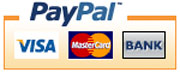 PayPal MasterCard and VISA payments