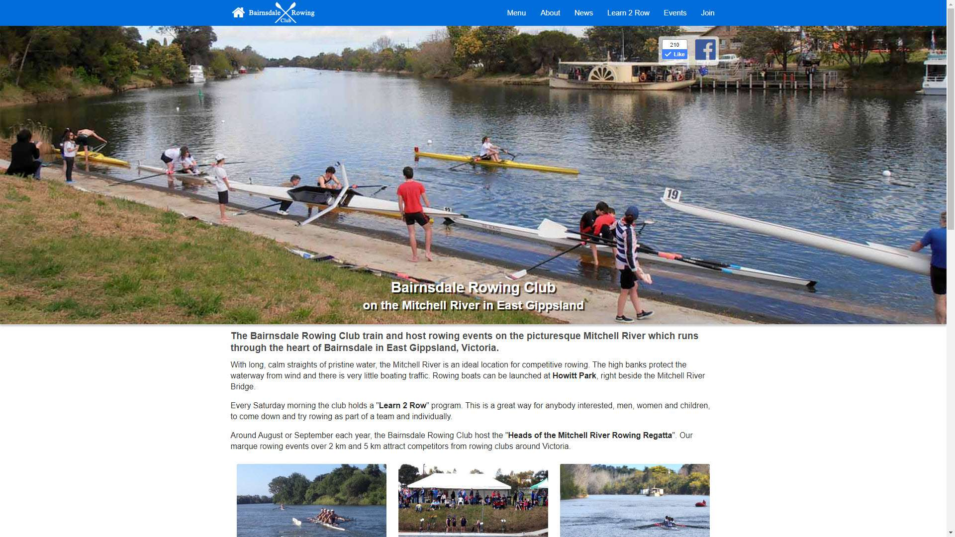 Bairnsdale Rowing Club website