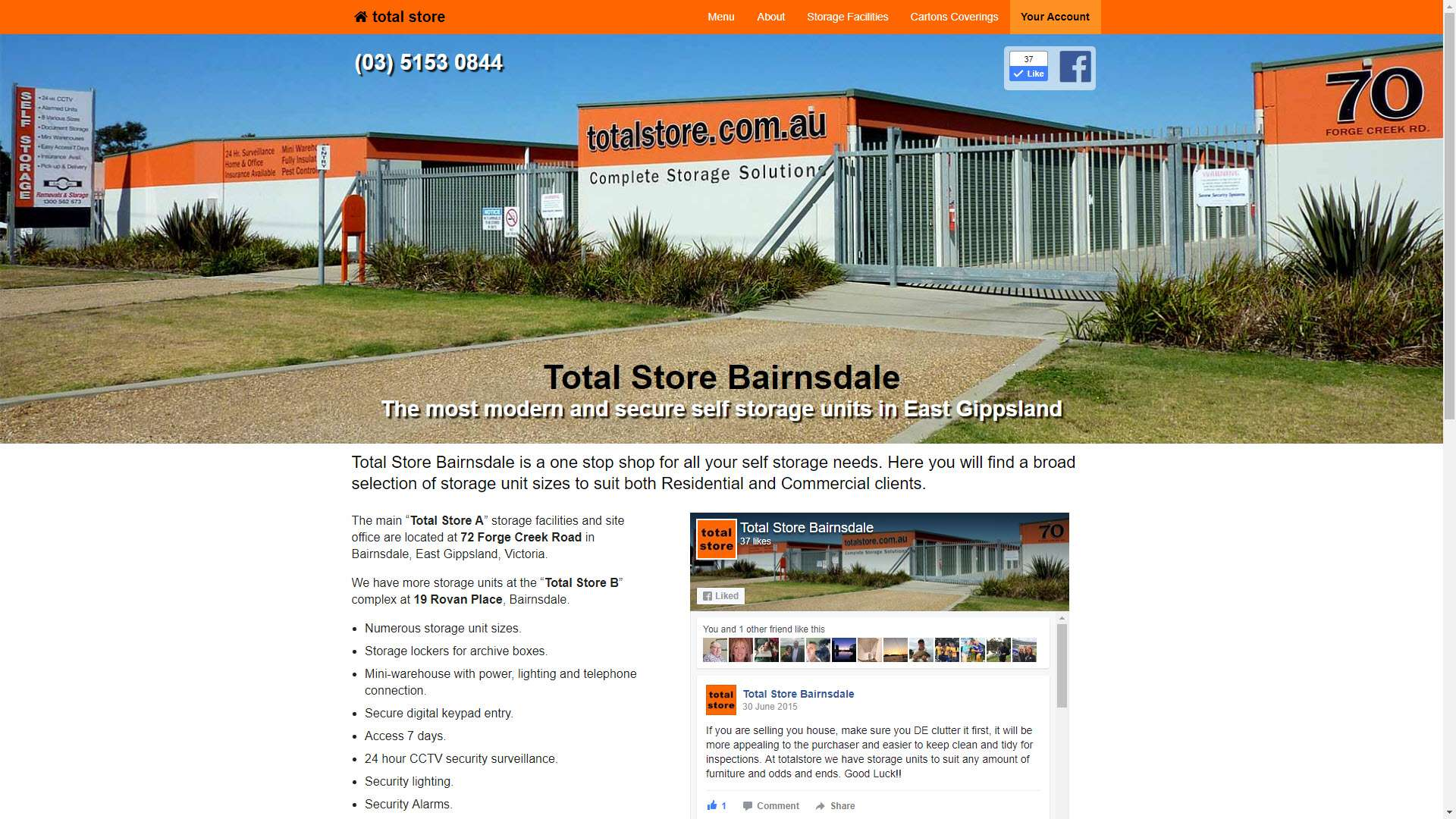 Total Store, Bairnsdale website