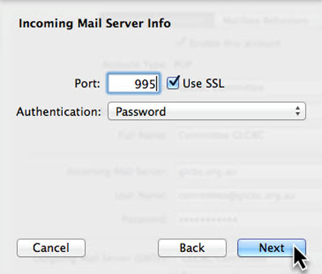 Incoming Mail Server Port 995