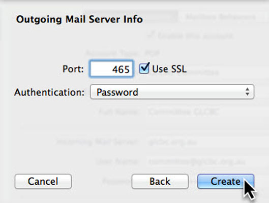 Outgoing Mail Server Port
