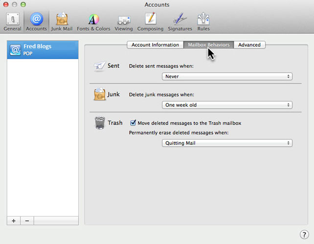 Apple Mac Mailbox Behaviors