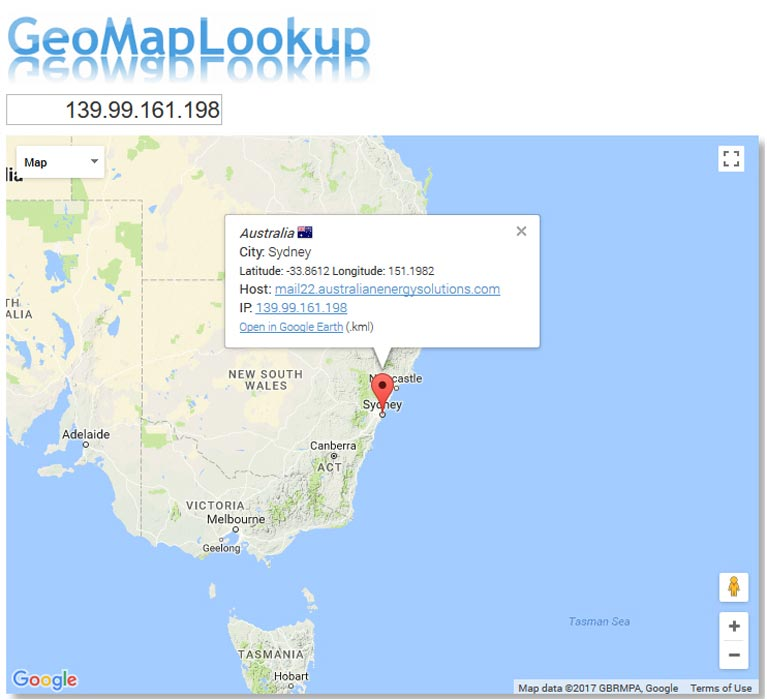 australianenergysolutions.com origin IP address of email server