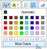 CK Editor text color selector