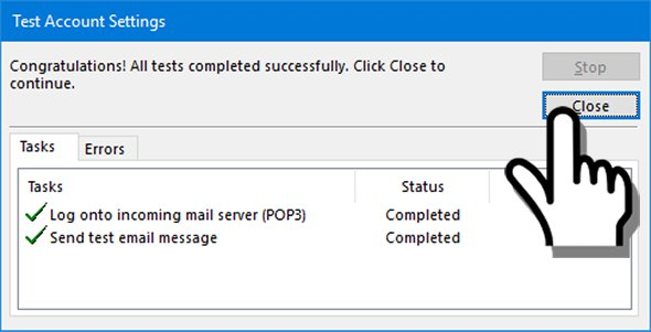 Outlook email tests completed successfully