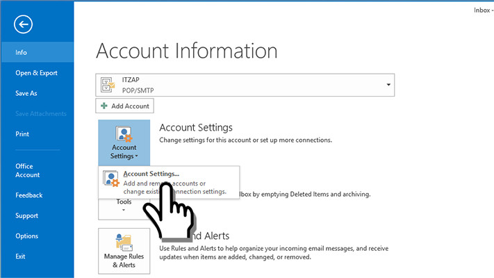 How to setup your email account in Microsoft Outlook