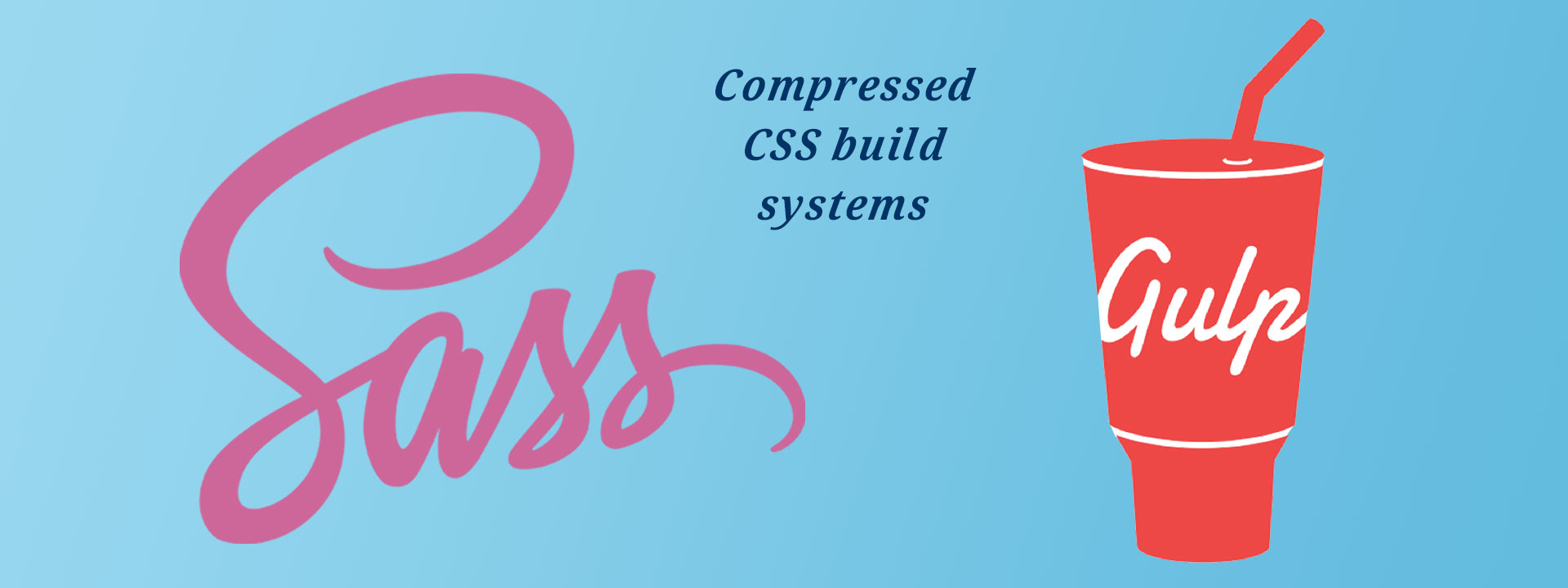 SASS and Gulp compressed css build systems